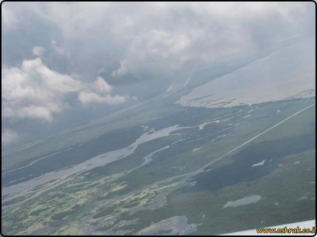 הביצות של לואיזיאנה - מבט מהמטוס Louisiana Swamps - view from the airplane
