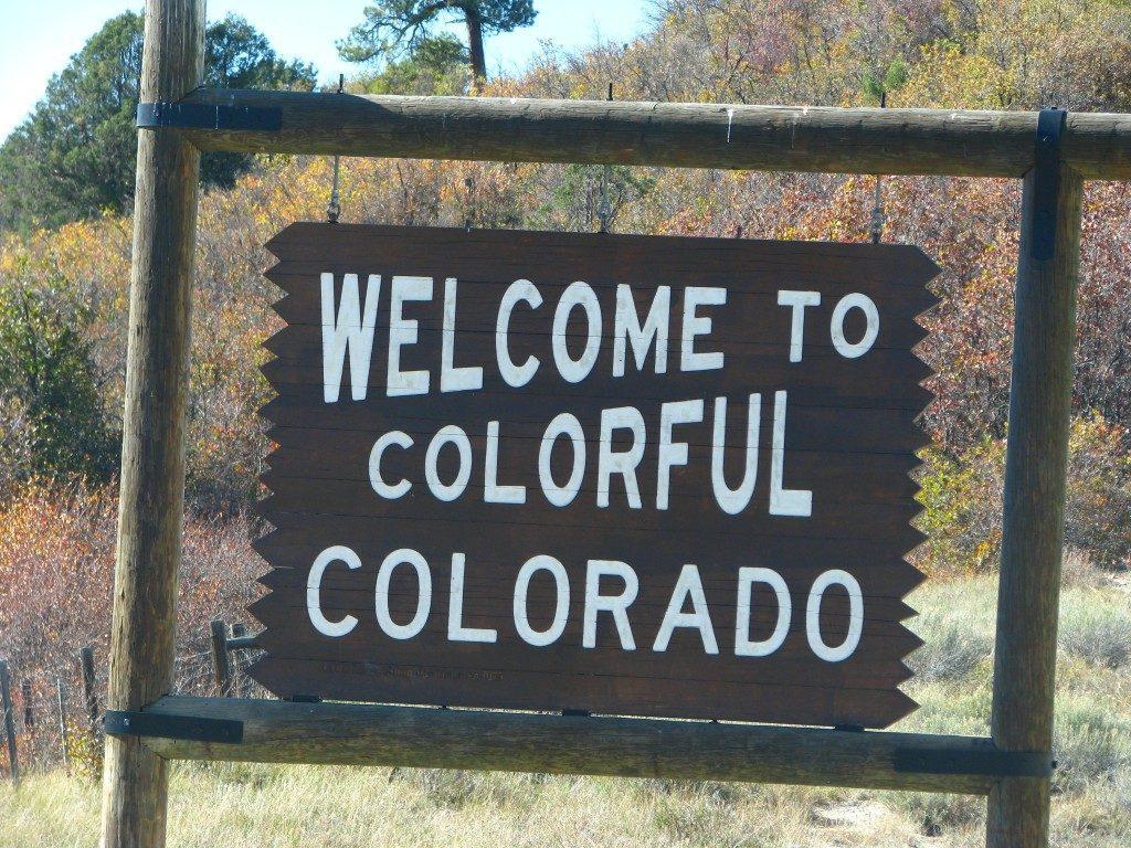 שלט ברוכים הבאים לקולורדו