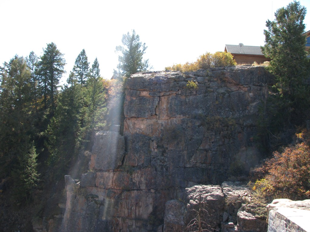 קולורדו - הקניון השחור של הגאניסון (The Black Canyon of the Gunnison), מרכז המבקרים - מבט מ Gunnison Point