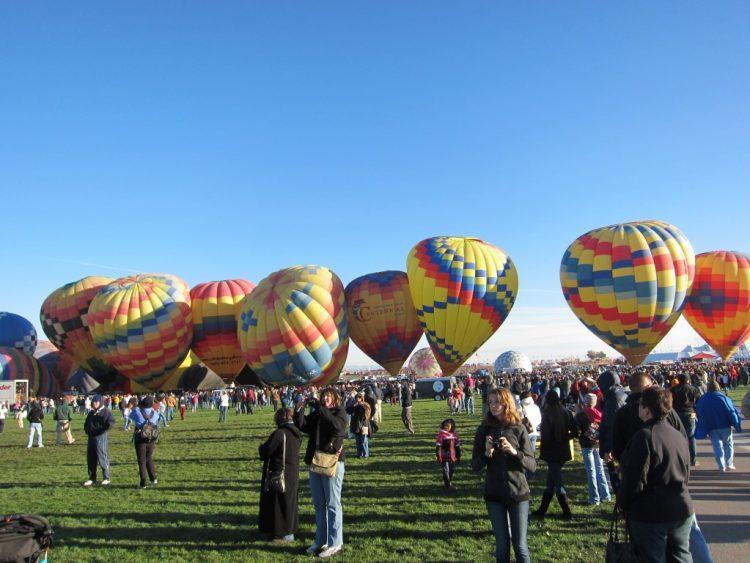 פסטיבל כדורים פורחים באלבקורקי ניו מקסיקו