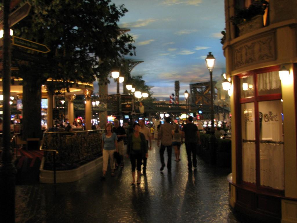 לאס וגאס - מלון פריז - רחוב פריזאי בתוך המלון