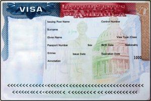 Passport with USA visa ויזה לארצות הברית,