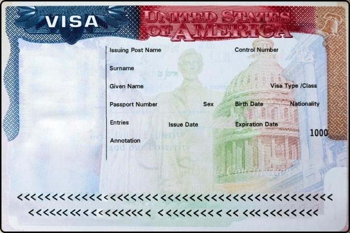Passport with USA visa ויזה לארצות הברית