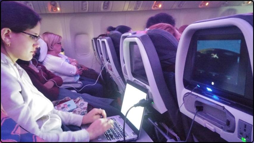 ויש אפילו אינטרנט בטיסה
