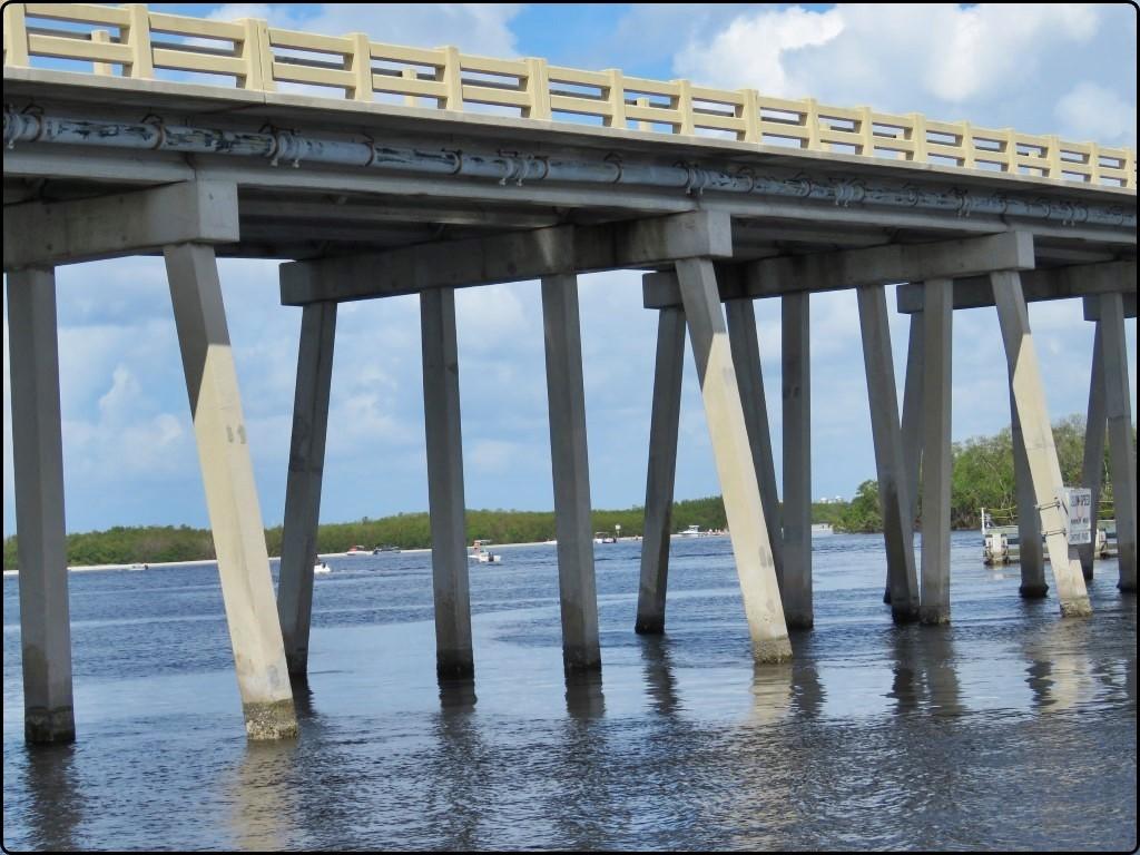 פלורידה - בין איים ובין גשרים כביש 865 לאי סניבל | Florida - between the islands and the bridges of Highway 865 to Sanibel Island