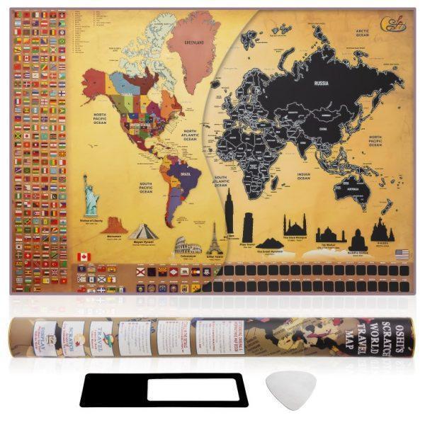 מפת גירוד של העולם OSHI