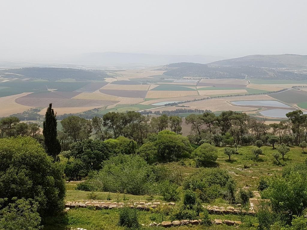 אושרה קמחי - על המזוודות. טבע ונופים בישראל - נוף עמק יזרעאל מפסגת התבור
