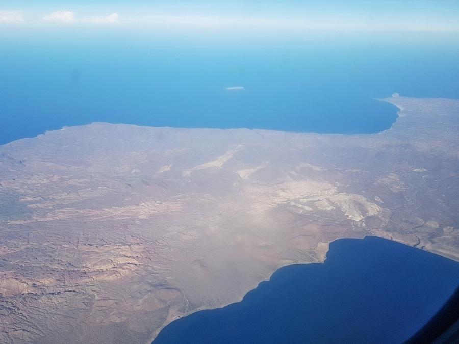 על המזוודות - מקסיקו באחה קליפורניה מבט מהאוויר Baja California Sur