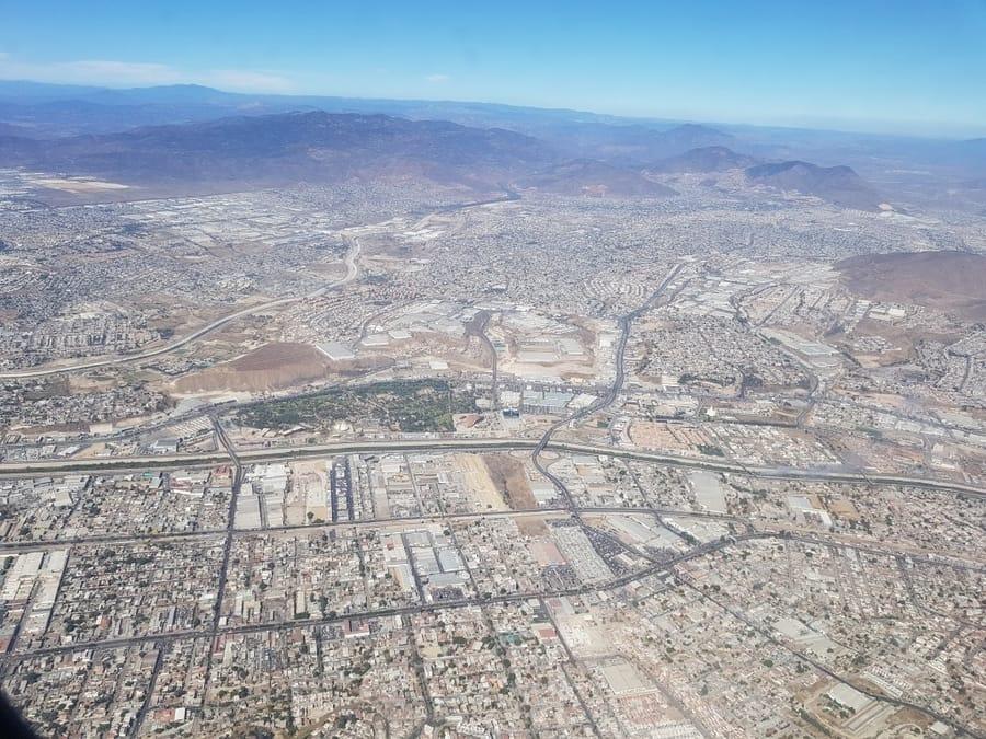 אושרה קמחי - טיחואנה מקסיקו - מבט מהאוויר Tijuana