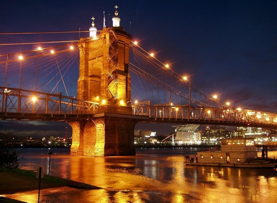 אוהיו אטרקציות. הגשר התלוי בסינסנטי. צילום - WikiImages
